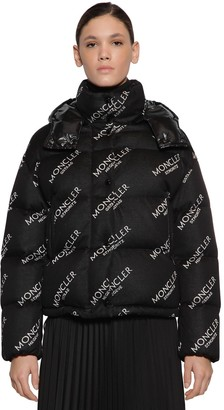 Moncler Caille Logo Cotton Jersey Down Jacket