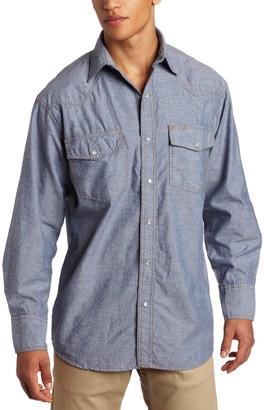Key Apparel Key Industries Men's Long Sleeve Western Snap Pre-Washed Shirt Big
