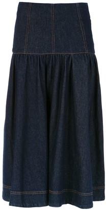 Andrea Bogosian Denim Midi Skirt