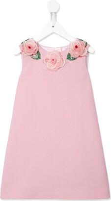 Dolce & Gabbana Rose Corsage Dress