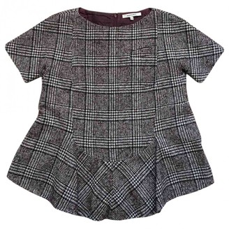 Carven Burgundy Wool Top for Women