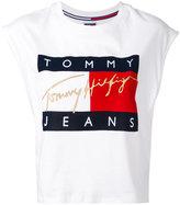 Tommy Jeans flock cropped tank top - women - Cotton - M