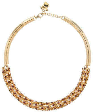 Rosantica Caos Crystal-embellished Choker - Womens - Gold