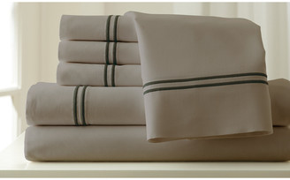 Modern Threads Colonial Home 1000Tc Easy Care 6 Piece Embroidered Sheet Set