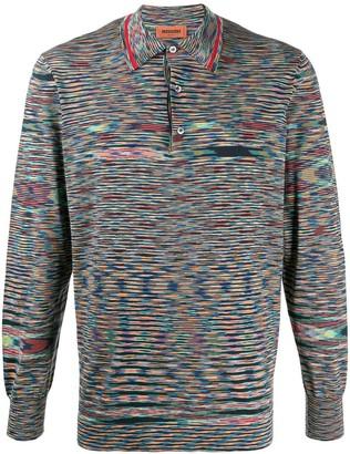 Missoni Striped Long-Sleeve Polo Shirt