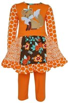 AnnLoren Big Girls Foxy Floral Dress Legging Clothing Set