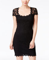 Jump Juniors' Cap-Sleeve Lace Sheath Dress