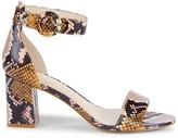Marc Fisher Cromie Snakeskin-Embossed Leather Heeled Sandals