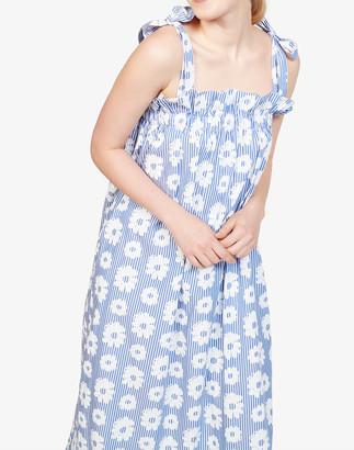 Madewell WHIT Fan Tie-Strap Midi Dress in Daisies on Stripe