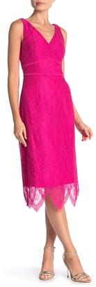 Nanette Nanette Lepore Scallop Lace Midi Dress