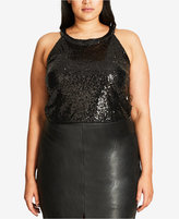 City Chic Trendy Plus Size Sequined Top