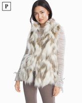 White House Black Market Petite Faux Fur Vest