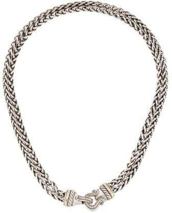 David Yurman Diamond Buckle Double Strand Necklace