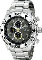August Steiner Men's AS8130SSB Analog Display Swiss Quartz Silver Watch