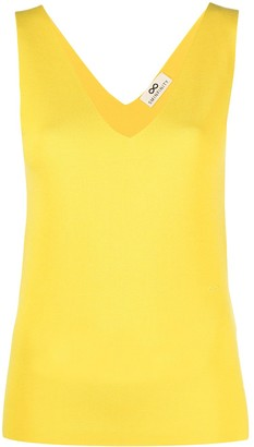 Sminfinity V-neck sleeveless knitted top