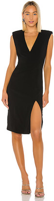 Jay Godfrey Colby Deep V Neck Dress