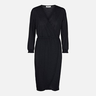 Msch - Navy Blue Adelena Wrap Style Dress - XS - 8
