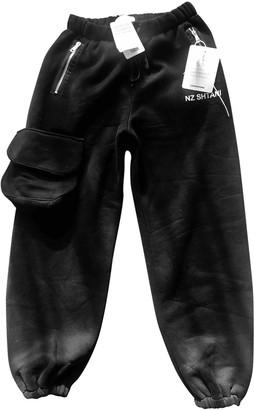 Natasha Zinko Black Cotton Trousers for Women