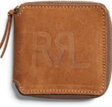 Ralph Lauren Roughout Leather Zip Wallet