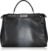 Peek-a-boo leather bag