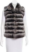 Michael Kors Rounded Collar Chinchilla Vest