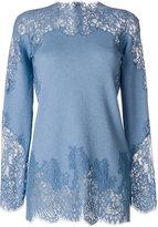 Ermanno Scervino lace insert top - women - Silk/Cotton/Polyamide/Wool - 40