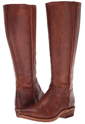 Frye Billy Inside Zip Tall (Black Full Grain Leather) Women's Boots