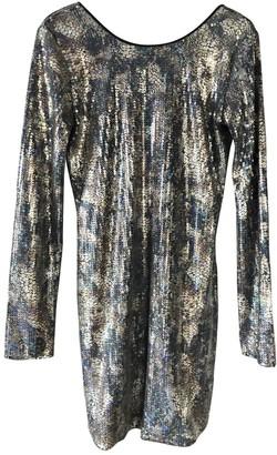 American Retro Silver Glitter Dress for Women