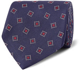 Dunhill 8cm Woven Mulberry Silk-twill Tie