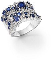 Bloomingdale's Sapphire and Diamond Statement Ring in 14K White Gold