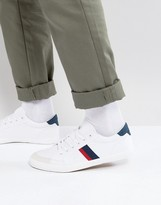 Pull&Bear Sneakers With Contrast Block Stripes In White