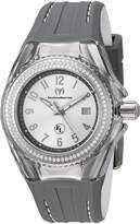 Technomarine Women's 'Eva Longoria' Swiss Quartz Stainless Steel and Silicone Casual Watch, Color:Grey (Model: TM-416012)