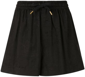 Karen Walker Floral Jacquard Shorts