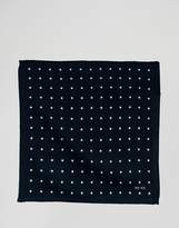 Reiss Printed Pocket Square In Wool
