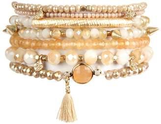 Riah Fashion Tassel-Charm Bracelet Set