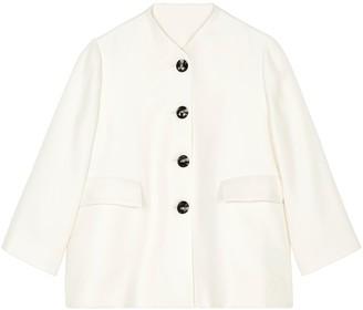 Lindsay Nicholas New York Swing Jacket In Ecru