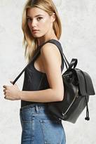 Forever 21 FOREVER 21+ Faux Leather Drawstring Backpack