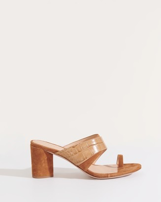 Veronica Beard Zuri Toe-Ring Slide Sandal