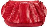The Row Fan Bag 10 Small Python Clutch Bag