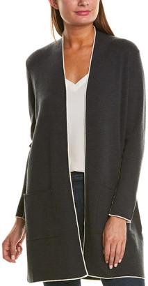 Eileen Fisher Tipping Wool Cardigan