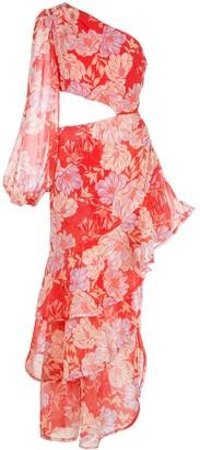 Alexis Sabetta asymmetrical floral print dress