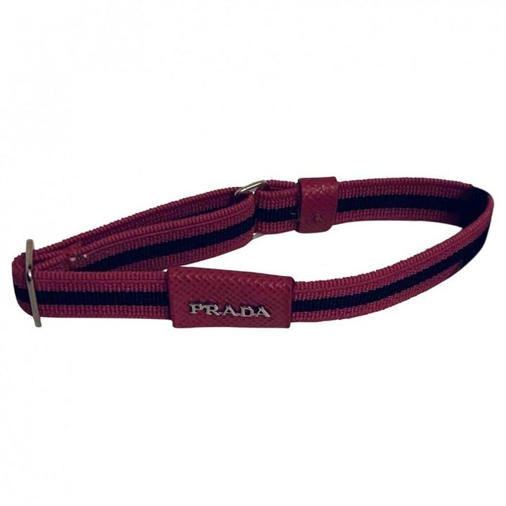 Prada Pink Cloth Bracelets Style