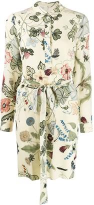 Gucci floral print shirt dress
