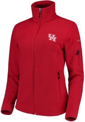 Women's Columbia Red Houston Cougars Team Give & Go Full-Zip Jacket