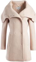 Cole Haan Light Pink Wool-Blend Peacoat