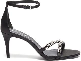 Stella Luna Crystal chain detail heeled sandals