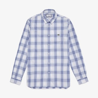 Lacoste Men's Slim Fit Long-Sleeve Wool Stretch Shirt