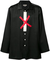 Yohji Yamamoto cross print shirt - men - Silk/Cotton - 2