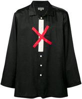 Yohji Yamamoto cross print shirt - men - Silk/Cotton - 4