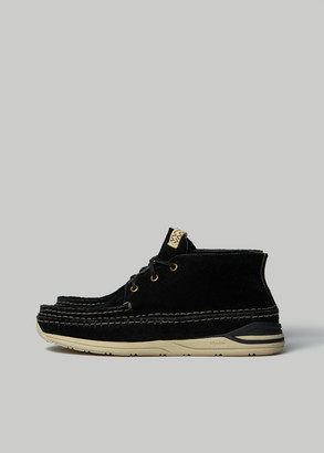 Visvim Men's Voyageur Moc Folk Sneaker in Black Size 10